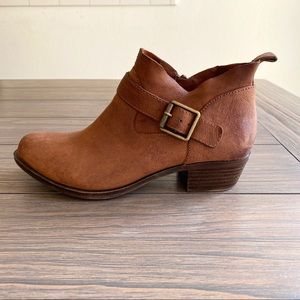 Lucky Brand Brown Leather Booties 5.5